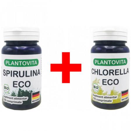 Pachet Super Alge BIO: Spirulina si Chlorella