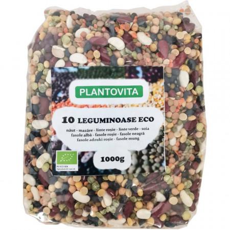 10 leguminoase ECO - 1000G - Naut, mazare, linte rosie decojita, linte verde, fasole alba, fasole rosie, fasole adzuki, fasole mung, fasole neagra, soia