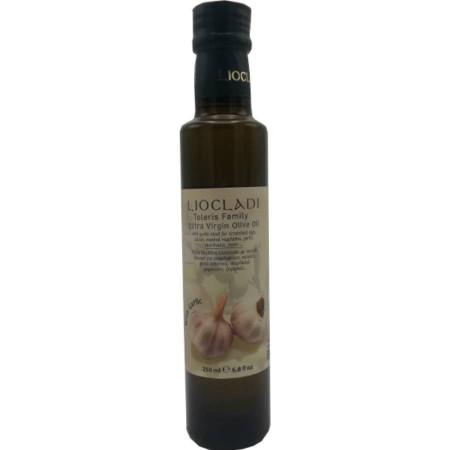 Ulei de măsline extravirgin condimentat cu usturoi, 250 ml