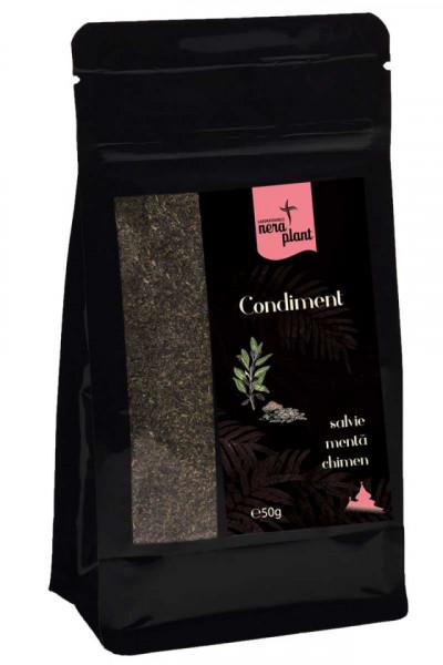Condiment Nera Plant BIO cu salvie, menta si chimen, 50g