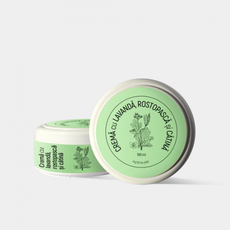 Crema cu Lavanda, rostopasca si Catina pentru tumori al pielii, 100ml