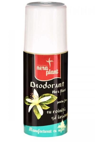 Deodorant Nera Plant cu roinita si iasomie, 50ml