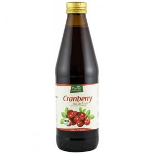 Suc de merisoare ( afine rosii ),100%, bio, 330 ml Medicura