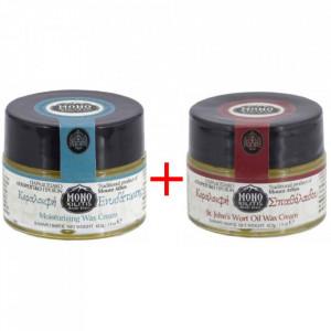 Pachet: crema hidratanta cu mastic si tamaie + crema cu ulei de sunatoare si propolis - Sfantul Munte Athos