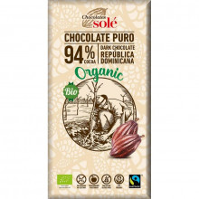 CIOCOLATA NEAGRA BIO SI FAIRTRADE 94% CACAO, 100G CHOCOLATES SOLE