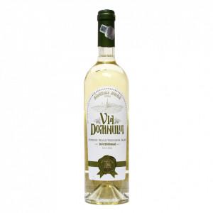Vin Sortiment Feteasca Regala + Sauvignon demisec, 2019, , Via Domnului - Manastirea Jercalai, 0,75l