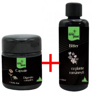 Pachet promo: Capsule Digesto-complex 30 capsule + Bitter 100 ml
