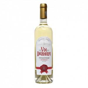 Vin Feteasca Regala alb, demisec - 2019, Via Domnului - Manastirea Jercalai, 0,75l