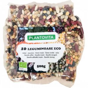 10 leguminoase ECO - 500G - Naut, mazare, linte rosie decojita, linte verde, fasole alba, fasole rosie, fasole neagra, fasole adzuki, fasole mung, soia