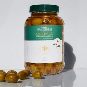 Masline verzi cu oregano si otet, 1 Kg