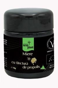Miere BIO Nera Plant cu tinctura de propolis, 70g