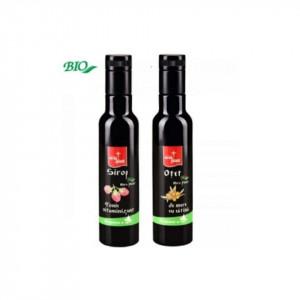 "Pachet promoțional '' Energie si vitalitate"". Sirop Nera Plant BIO Tonic vitaminizant, 250ml + Otet de mere cu catina BIO Nera Plant, 250ml"