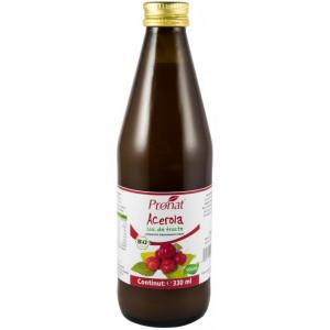 Suc de Acerola 100%, bio, 330 ml Medicura