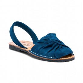 Sandale de dama din piele intoarsa, AVARCA BOW Blue