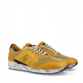 Pantofi din piele naturala POL Yellow