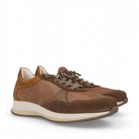 Pantofi din piele naturala STUART Brown