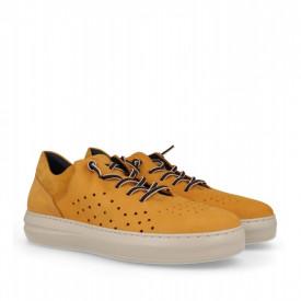 Pantofi din piele naturala TOMY Yellow