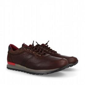 Pantofi sport din piele naturala BRADO Brown