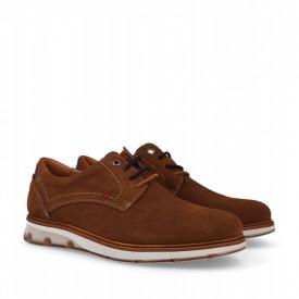Pantofi sport din piele naturala MARIO Camel
