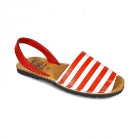 Sandale de dama din piele naturala, AVARCA MARINERO Red