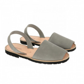 Sandale din piele intoarsa AVARCA MINORQUINES Grey Men