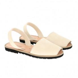 Sandale din piele intoarsa MINORQUINES Nude