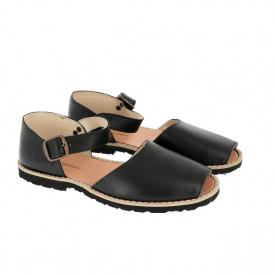 Sandale din piele MINORQUINES FRAILERA Black