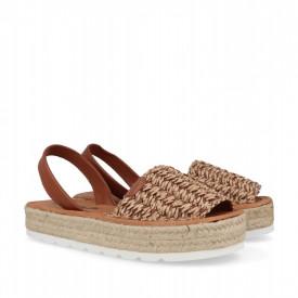 Sandale din piele naturala AVARCA FANY Camel