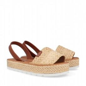 Sandale din piele naturala AVARCA MAROC Beige