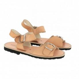 Sandale din piele naturala AVARCA MINORQUINES BUCKLE Natural