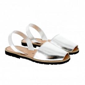 Sandale din piele naturala AVARCA MINORQUINES Metal Silver