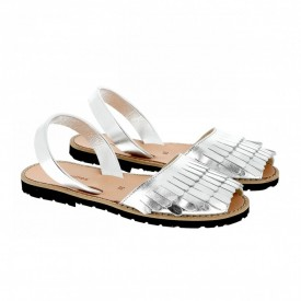 Sandale din piele naturala AVARCA MINORQUINES Sirena Silver
