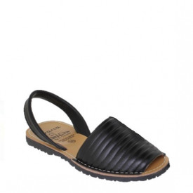 Sandale din piele naturala AVARCA PUFFY BLACK