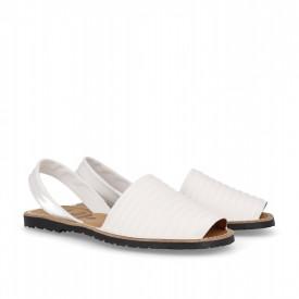 Sandale din piele naturala AVARCA PUFFY WHITE