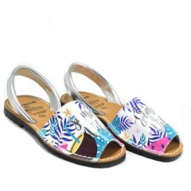 Sandale din piele naturala, AVARCA SUMMER VIBES White