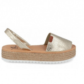 Sandale din piele naturala AVARCA VIDA GOLD