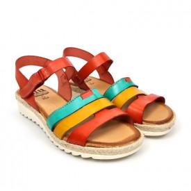 Sandale din piele naturala MARIELA Multicolour