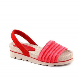Sandale din piele naturala RIOT Red