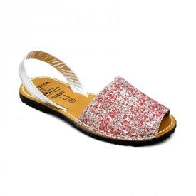 Sandale din piele naturala, AVARCA GLITTER Pink