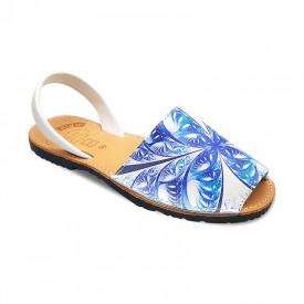 Sandale de dama din piele naturala, AVARCA SPIKES BLUE