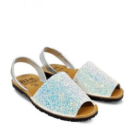 Sandale din piele AVARCA GLITTER Snow