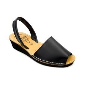 Sandale din piele AVARCA  WEDGE Black