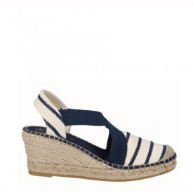 Sandale din piele bumbac natural si piele PONTE Navy
