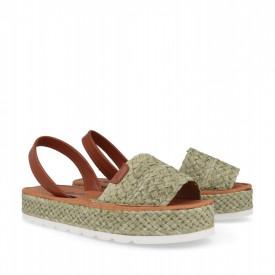 Sandale din piele naturala AVARCA MAROC Khaki