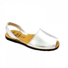 Sandale din piele naturala AVARCA SATIN Silver