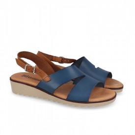 Sandale din piele naturala FOX Blue