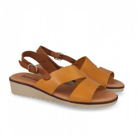 Sandale din piele naturala FOX Yellow