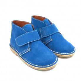 Ghete pentru copii, din piele intoarsa naturala SAFARI BLUE