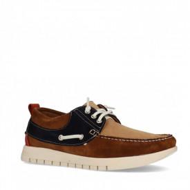 Pantofi sport din piele naturala ERIC Brown