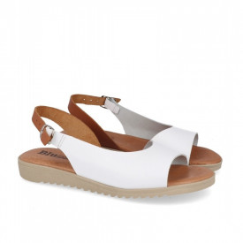 Sandale din piele BLUSANDAL White